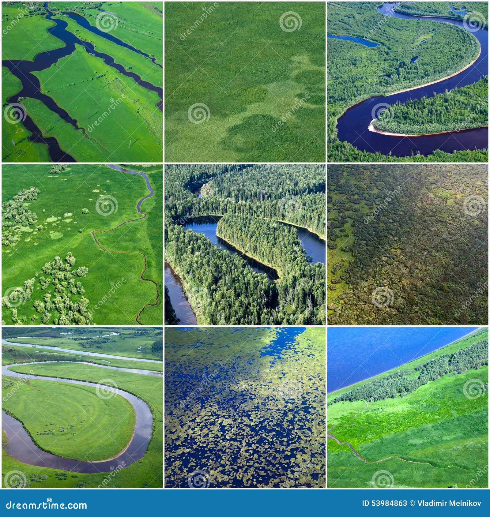 Summer Natural Textures, Top View Stock Image