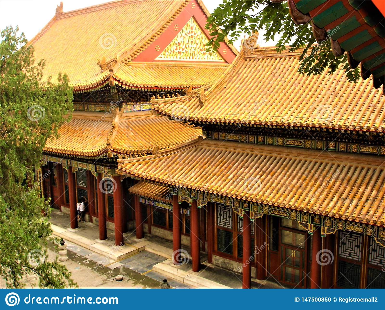 Summer Palace in Beijing, China. Traditional building, time and history