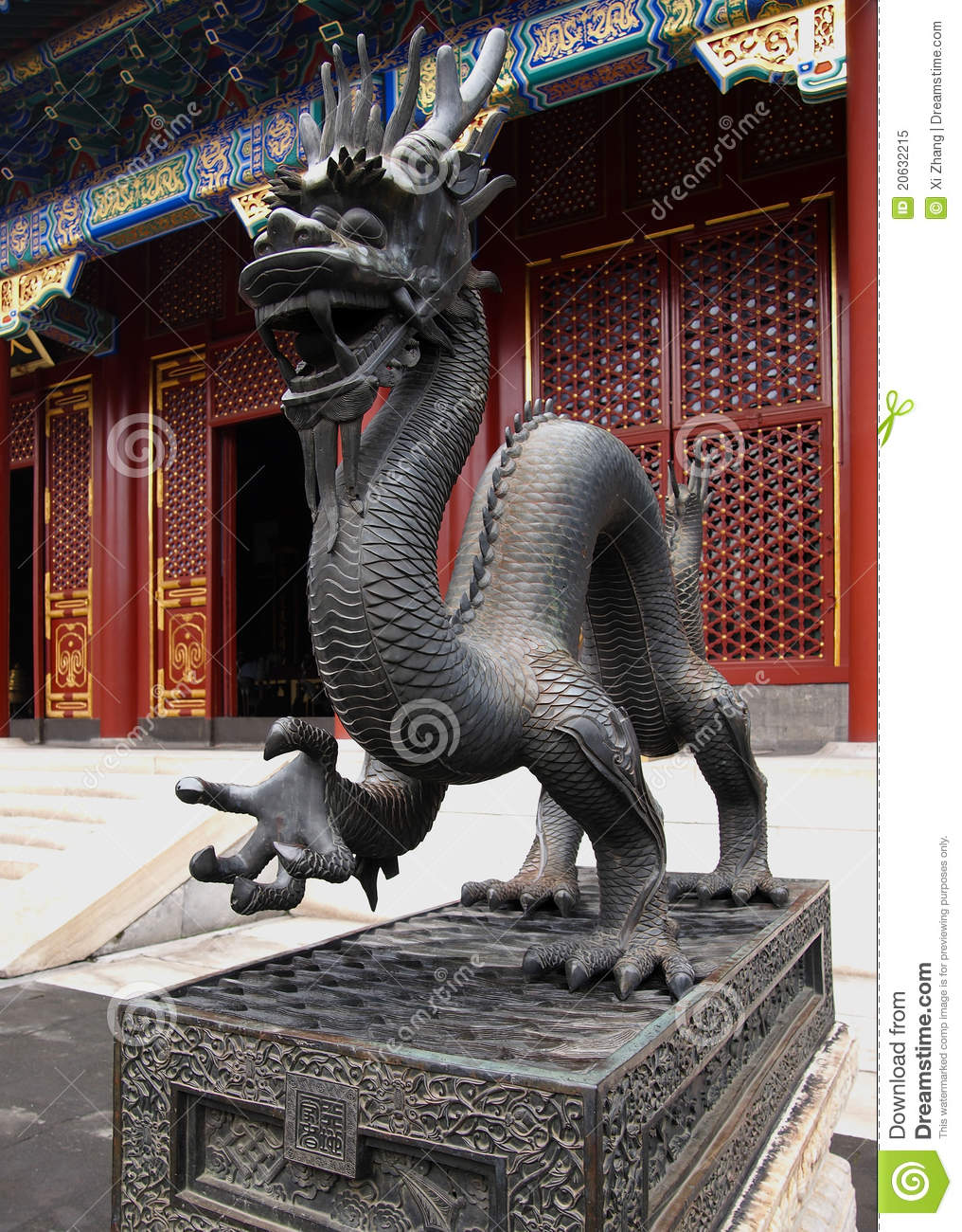 Symbol Of Imperial Power Dragon Statue In The Summer