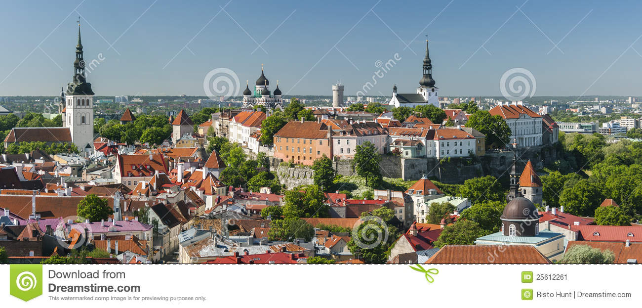 Summer panorama of the Old Town of Tallinn,Estonia