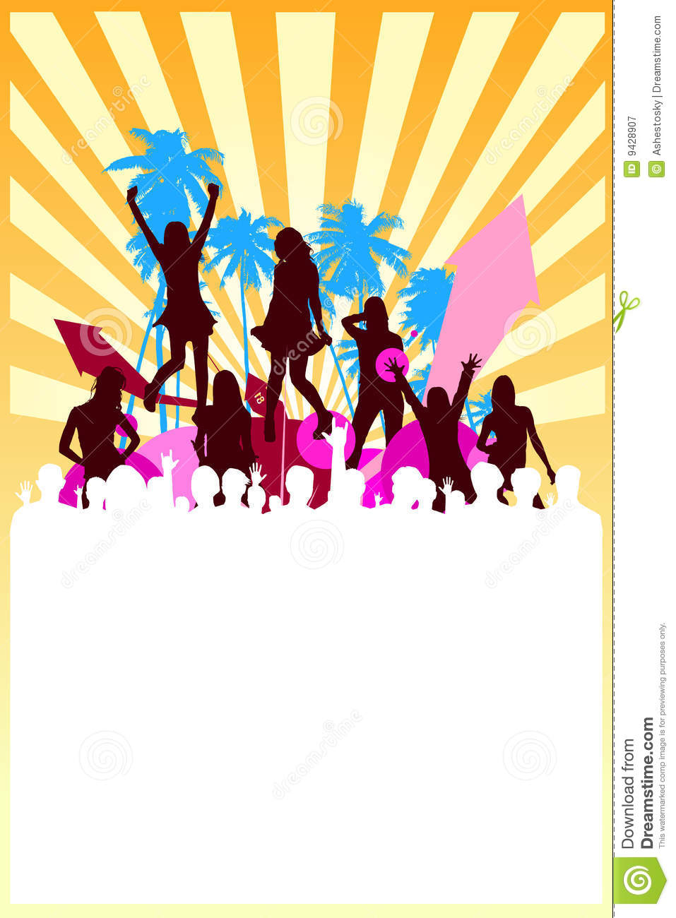 Summer Party Background Vector Royalty Free Stock Photography - Image ...