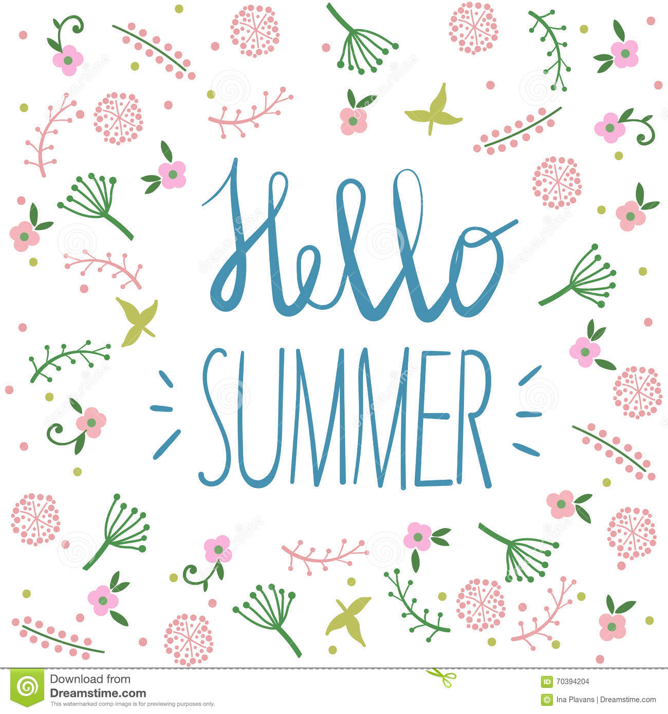 Summer party invitation greeting card template or poster nature summer party invitation greeting card template or poster nature flower set design vector illustration plant event background stopboris Image collections