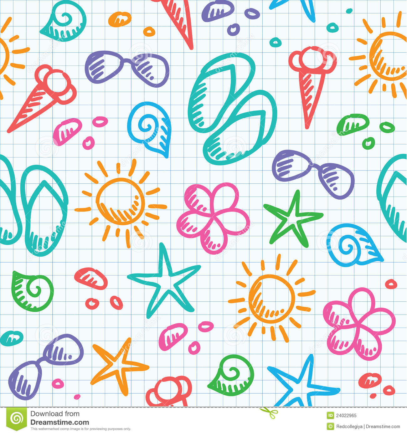 Summer Pattern Royalty Free Stock Photo Image 24022965