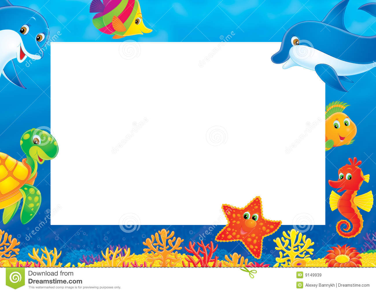 Summer Photo Frame Stock Illustration Illustration Of
