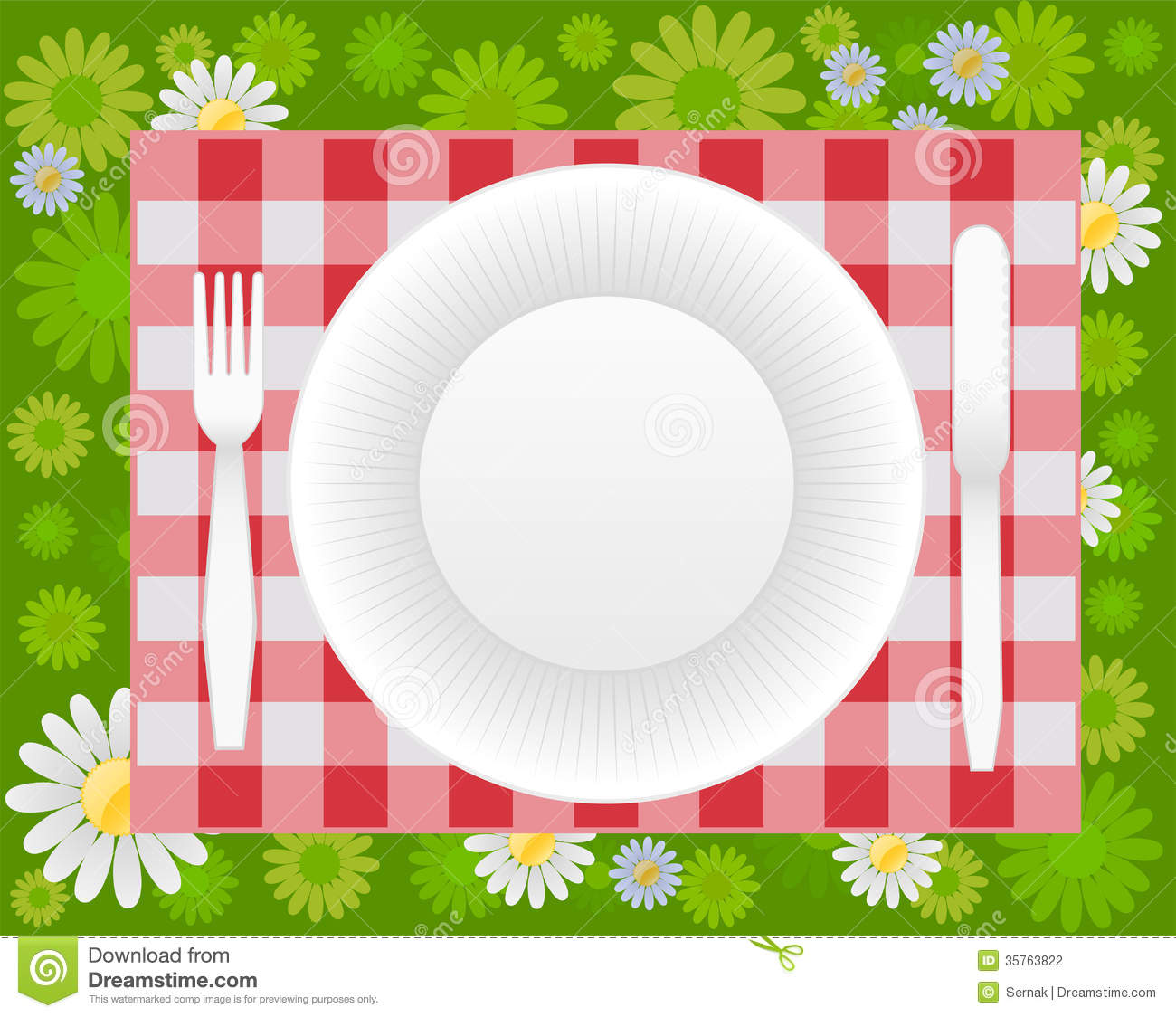 Summer Picnic Design Stock Photography Image 35763822