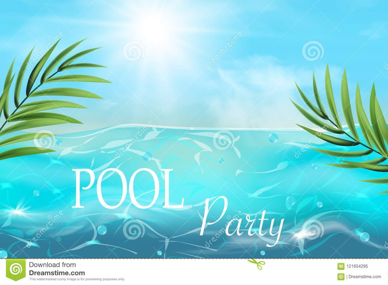 Pool Party Invitation Royalty Free Stock Image