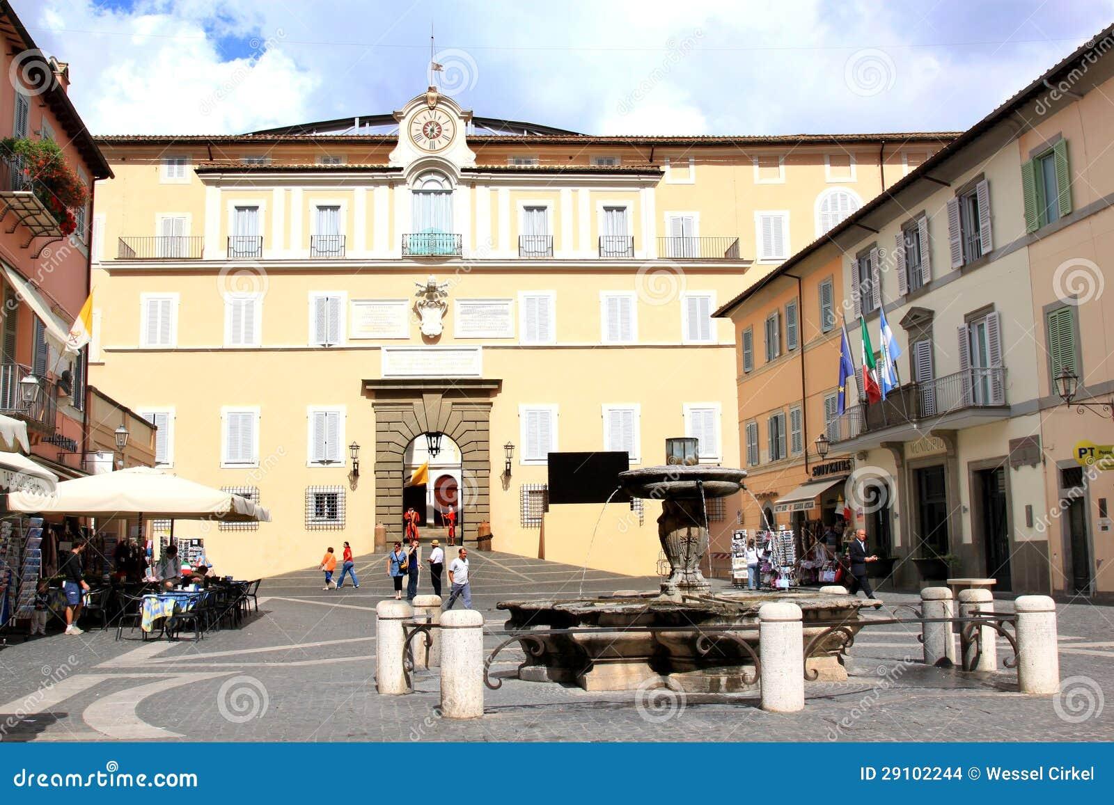 summer residence of pope  castel gandolfo  italy editorial