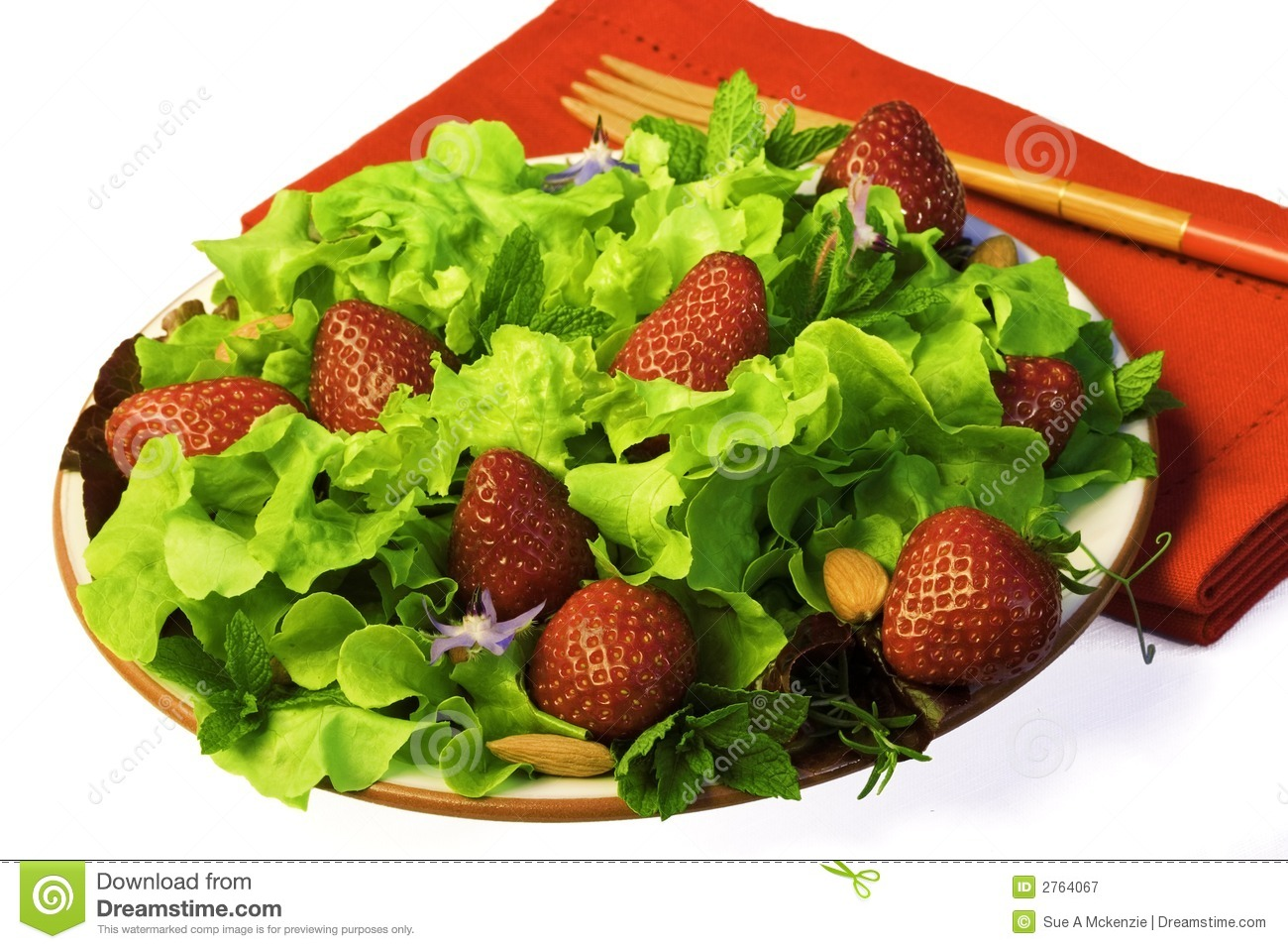 Royalty Free Stock Photography: Summer Salad with Strawberries