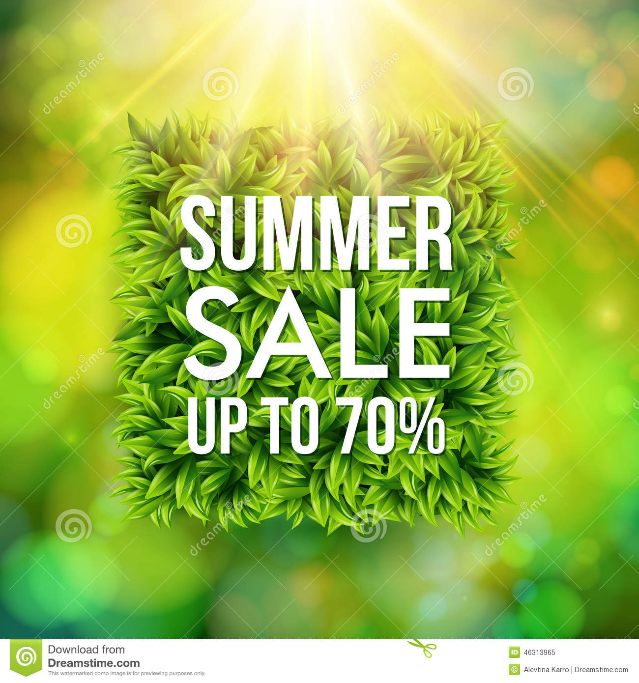Summer Sale Advertisement Poster Effect Abstract