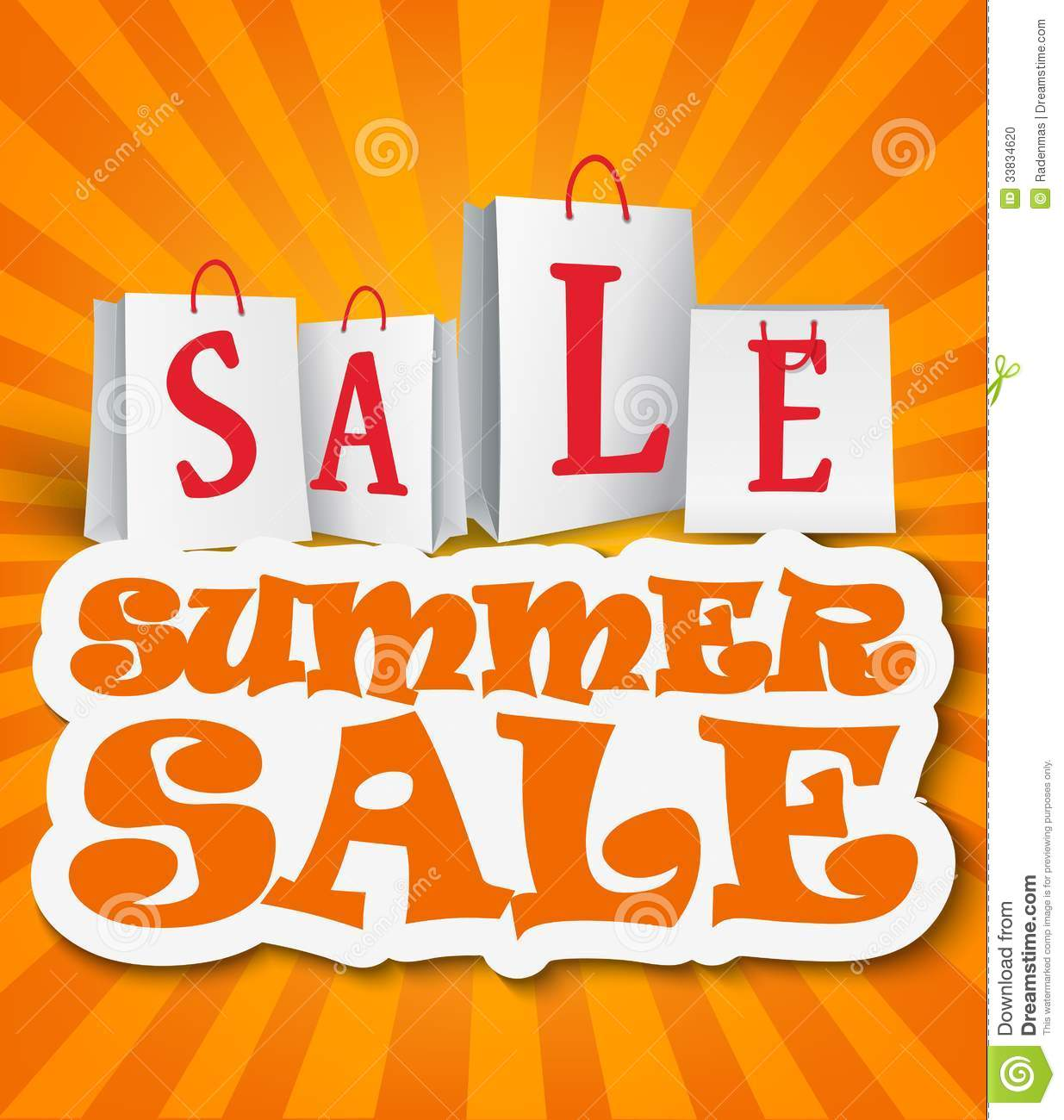 Sale: Summer Sale Background Stock Photo