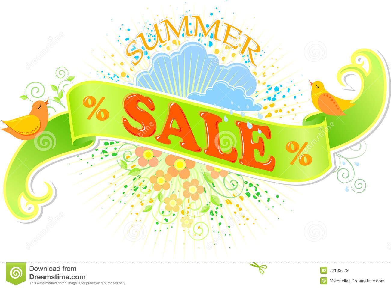 Summer Sale Banner Royalty Free Stock Images - Image: 32183079