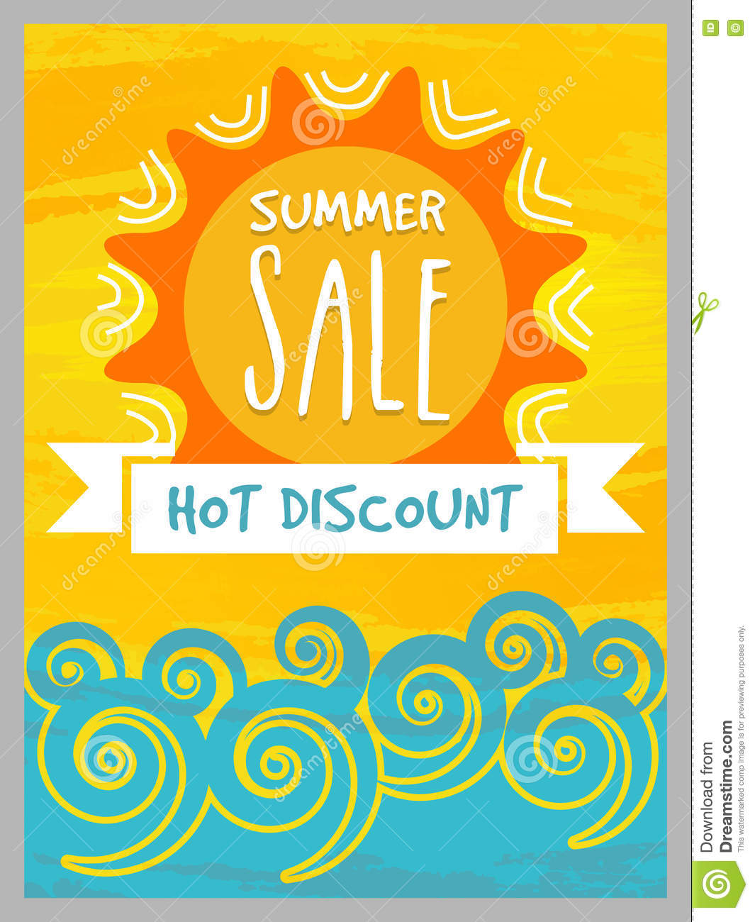 Summer Sale Banner, Poster Or Flyer Design. Stock ...
