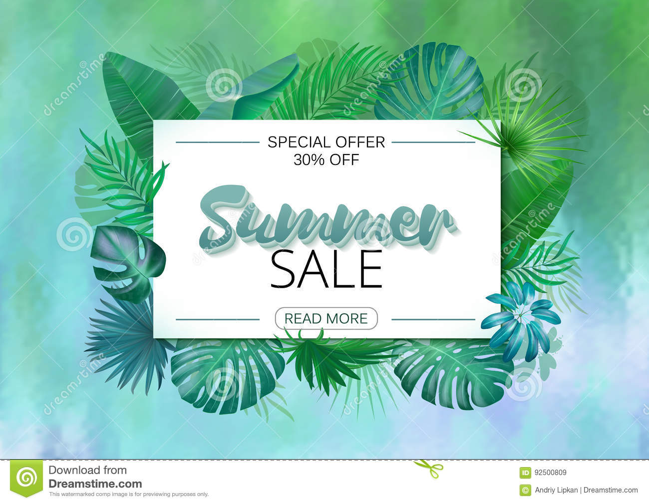 Free poster design and print - Summer Sale Poster Design For Print Or Web Vector Discount Banner