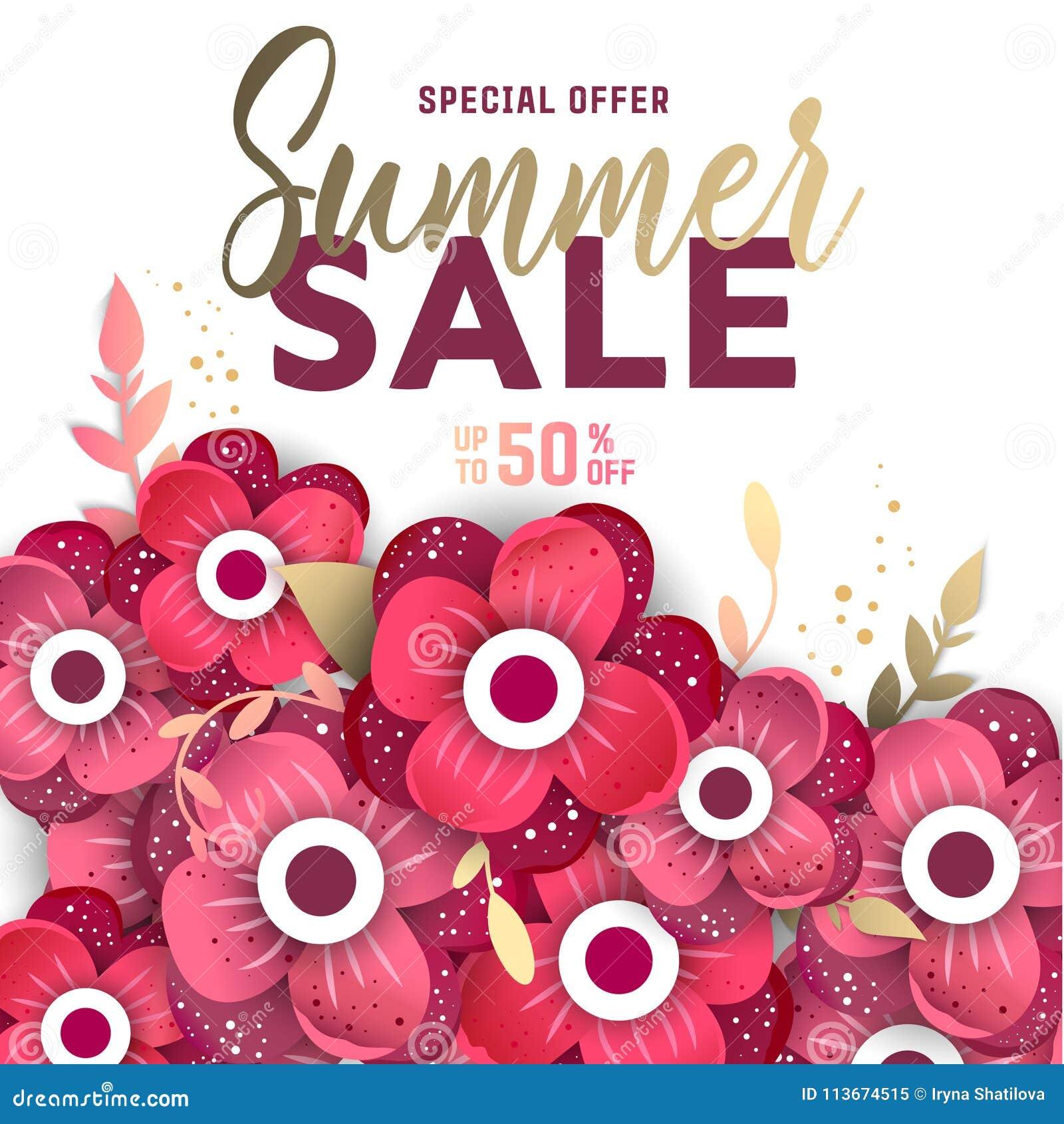 Summer sale design with flowers stock vector illustration of download summer sale design with flowers stock vector illustration of nature design 113674515 mightylinksfo