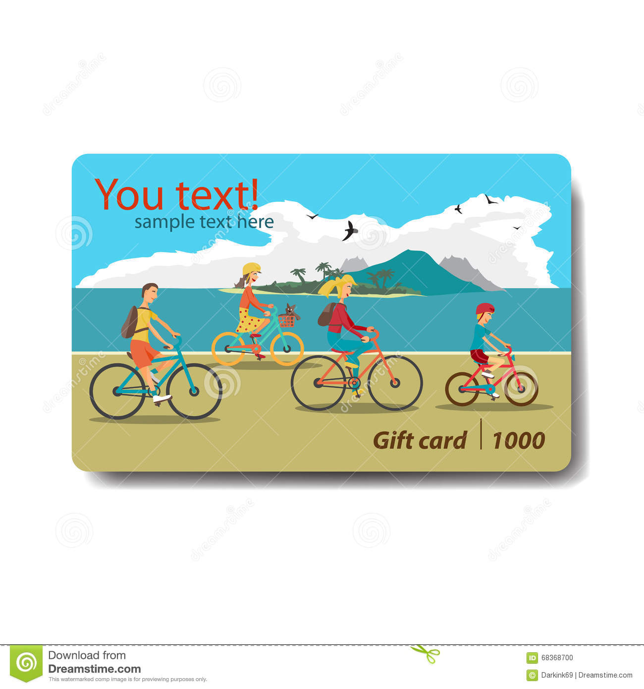 Design of discount card - Summer Sale Discount Gift Card Branding Design For Travel Stock Photo