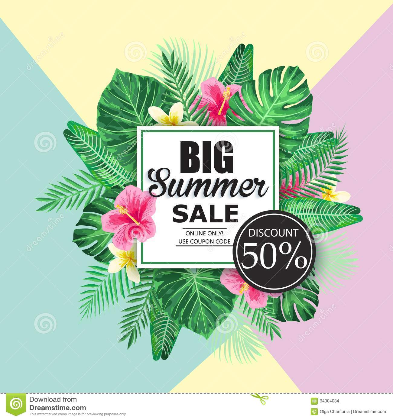Summer sale exotic and tropic background design stock illustration summer sale exotic and tropic background design izmirmasajfo