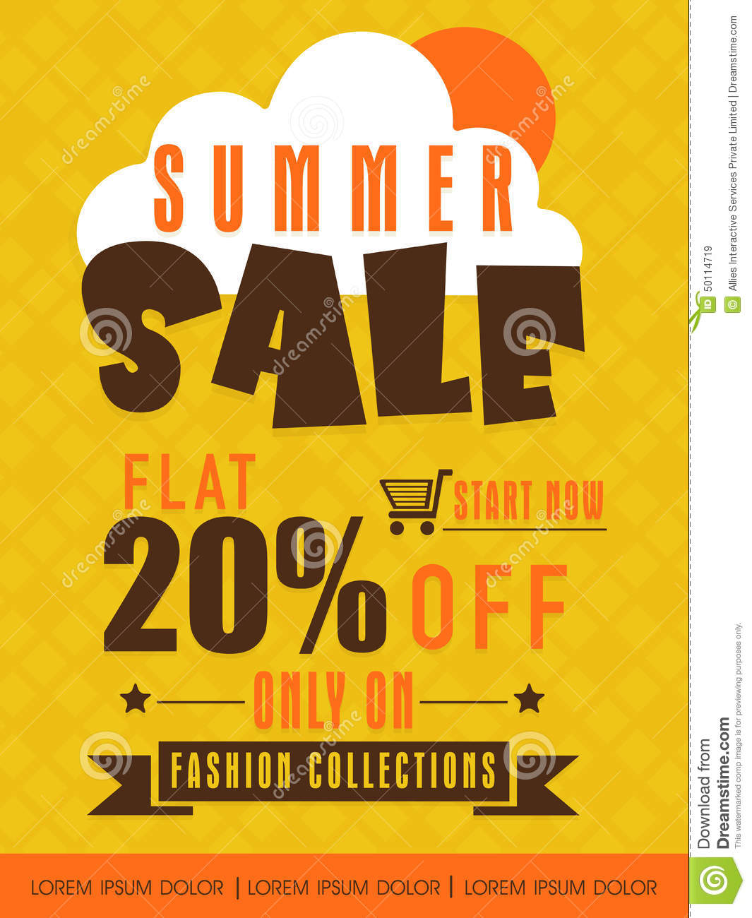 Summer sale flyer banner or poster stock photo image for Cheap prints and posters