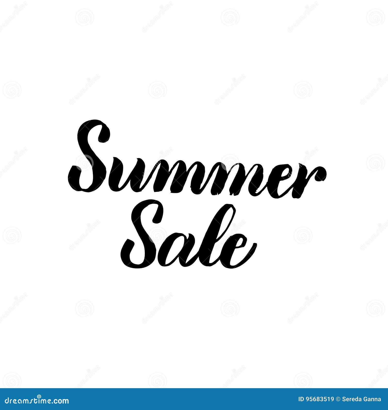 Summer sale handwritten calligraphy stock vector image