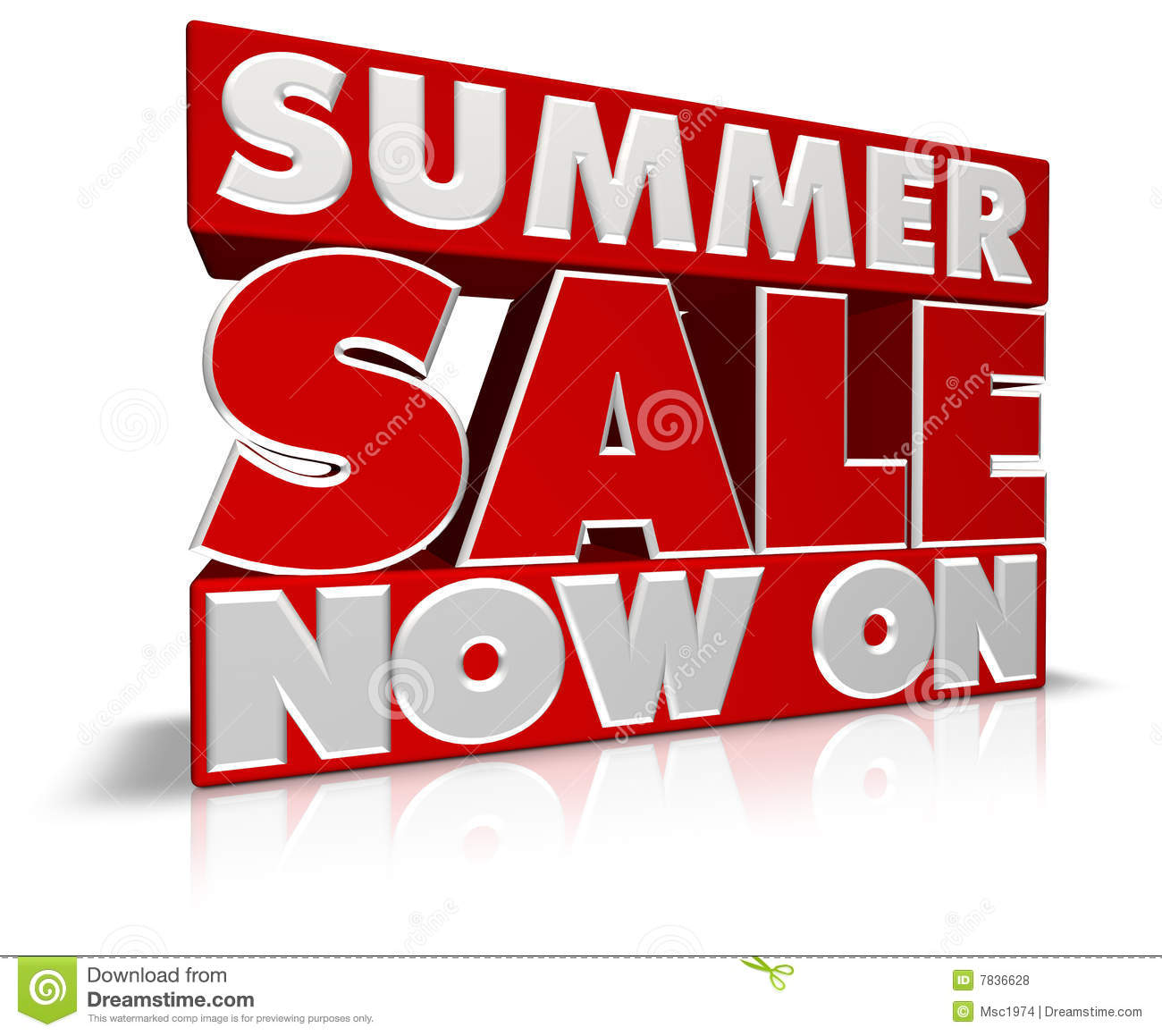 Summer Sale Now On Royalty Free Stock Photos - Image: 7836628