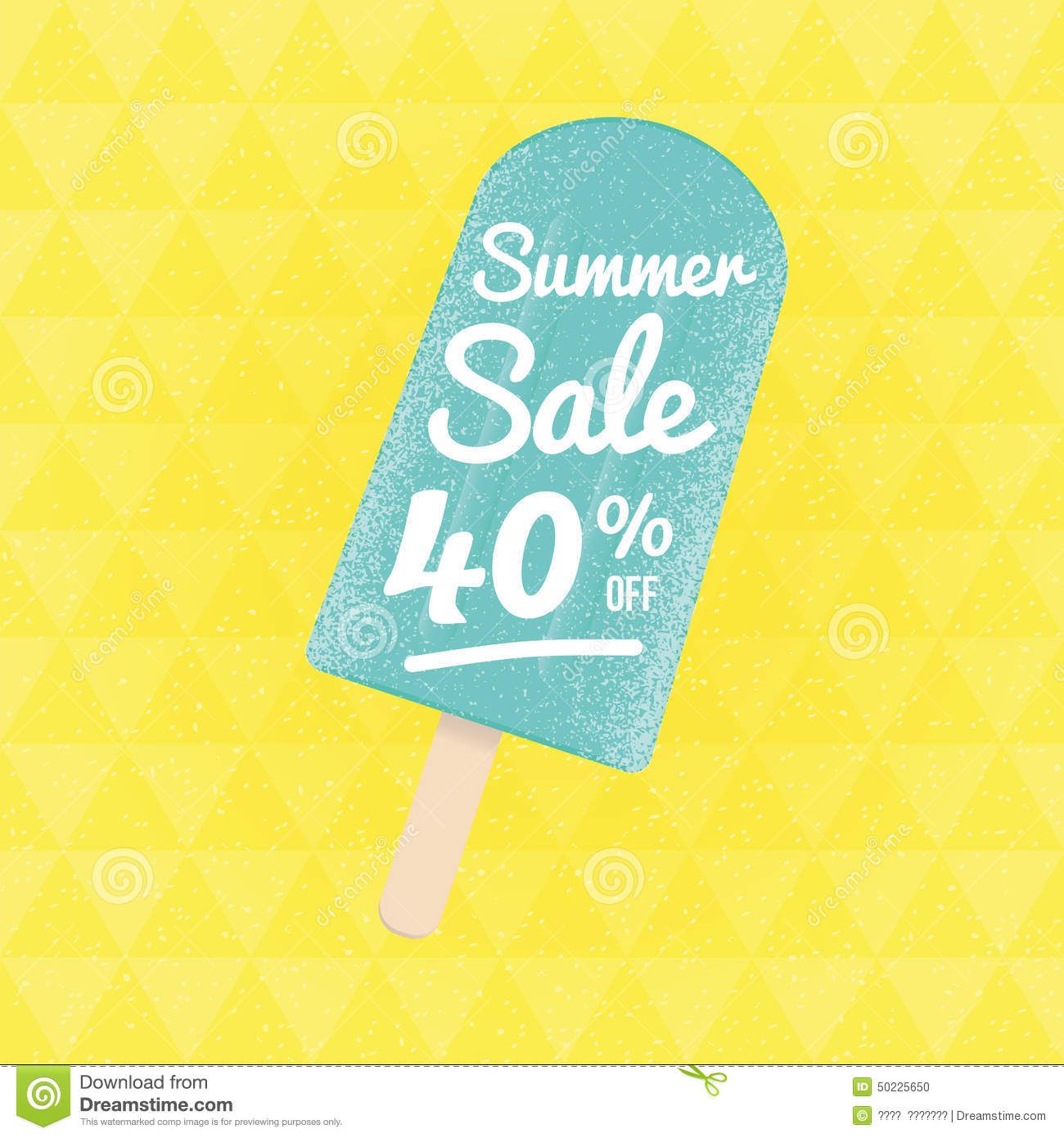 Sale: Summer Sale 40% Off. Stock Vector. Illustration Of Poster