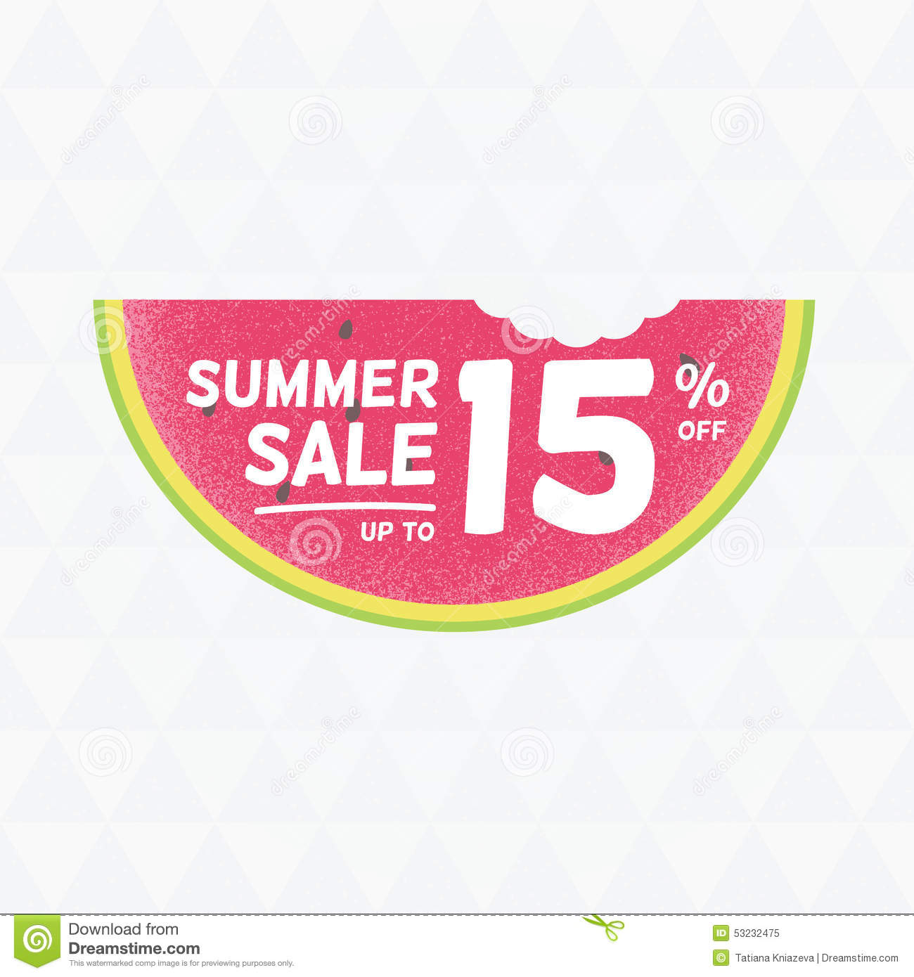 Summer Sale 15% Off. Vector Triangular Background With ...
