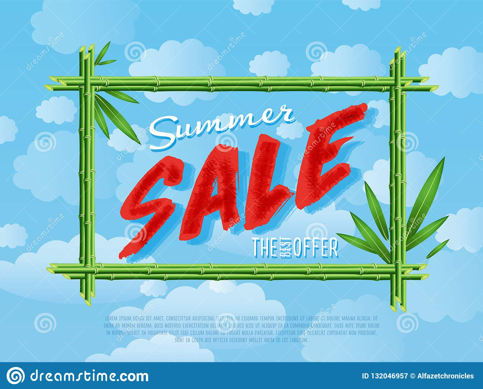987f08b83 Summer Sale Poster For Retail Stock Illustration - Illustration of ...