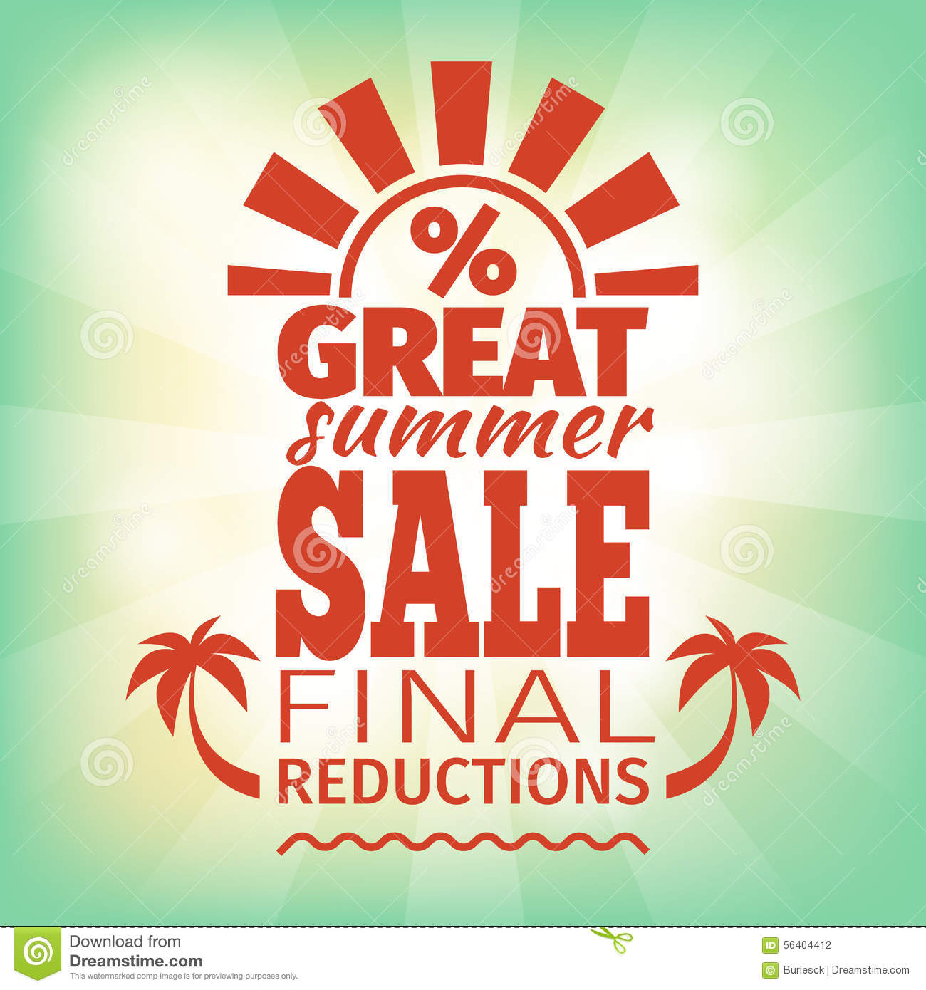 Summer Sale Poster Stock Vector - Image: 56404412