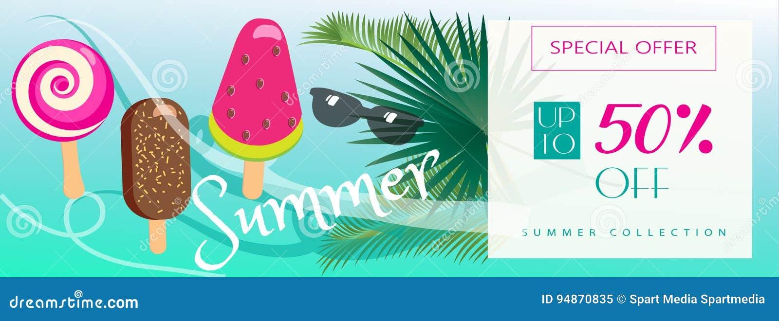 Download Summer Sale stock vector. Illustration of dessert, event - 94870835