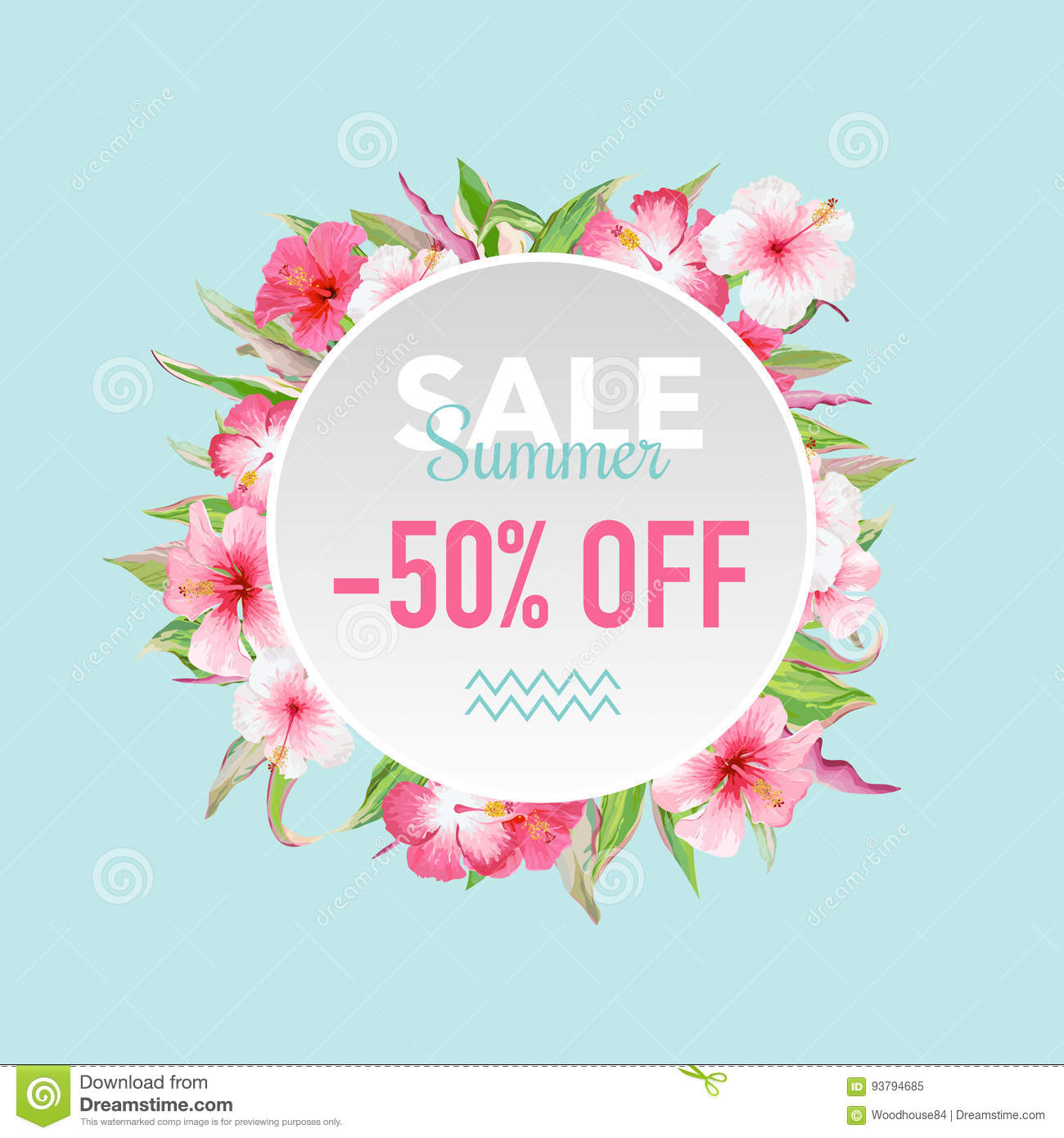 Summer sale tropical flowers banner for discount poster fashion summer sale tropical flowers banner for discount poster fashion sale market offer izmirmasajfo