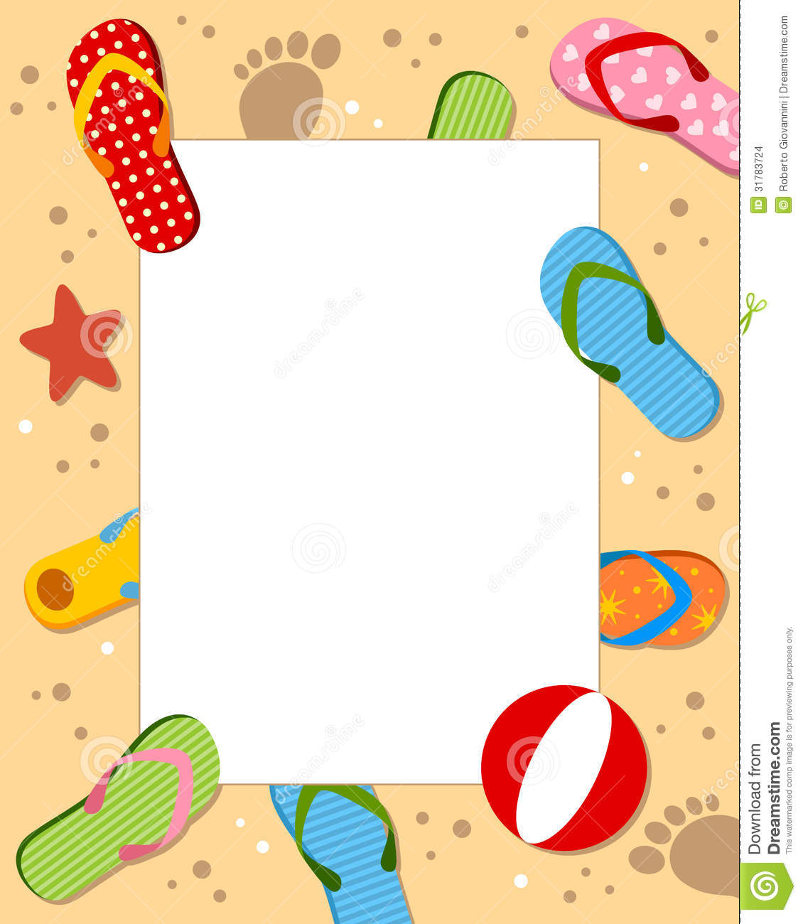 Photo frame, post card or page for your scrapbook. Subject: a sand ...