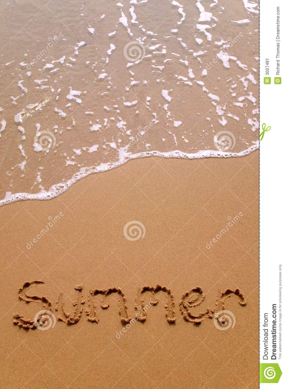 Summer In Sand Vertical Stock Image Image 3007481