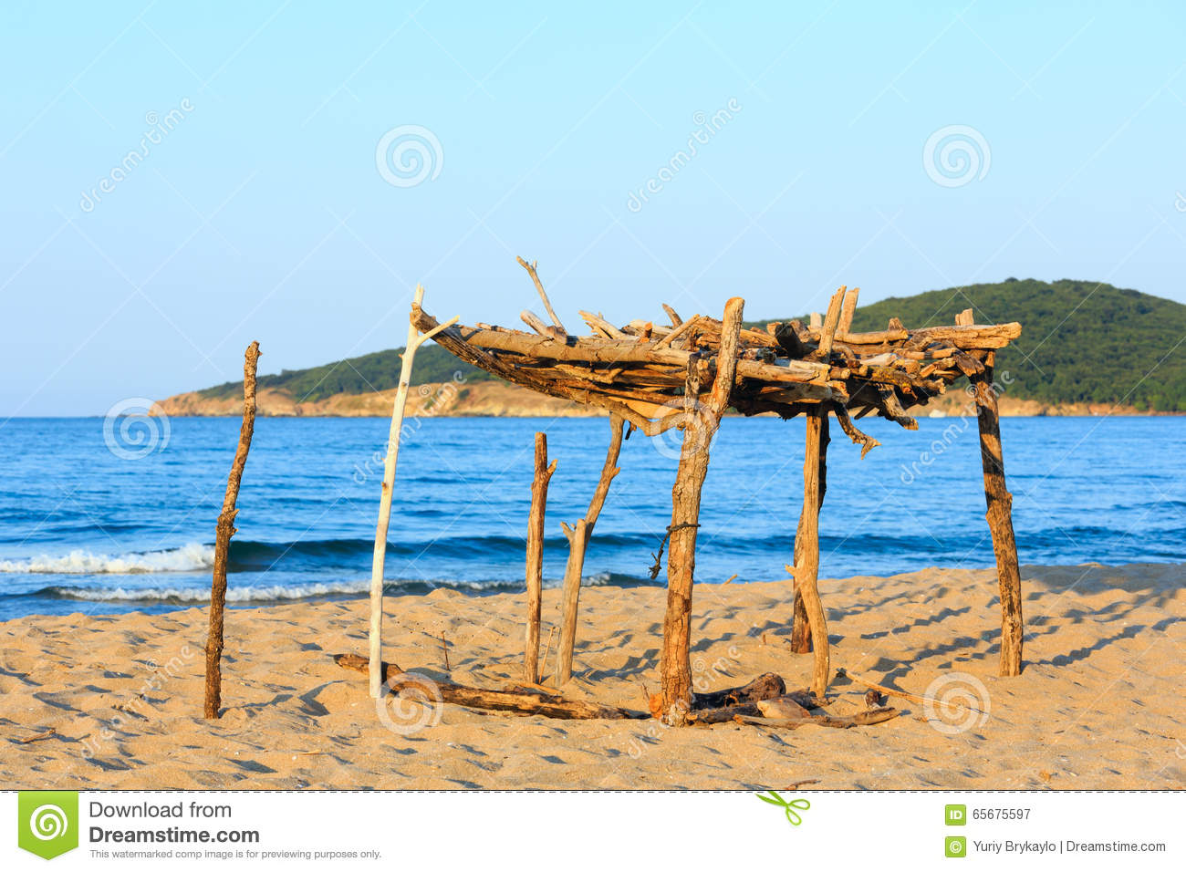 Summer Sandy Beach In Bulgaria Stock Image Image Of
