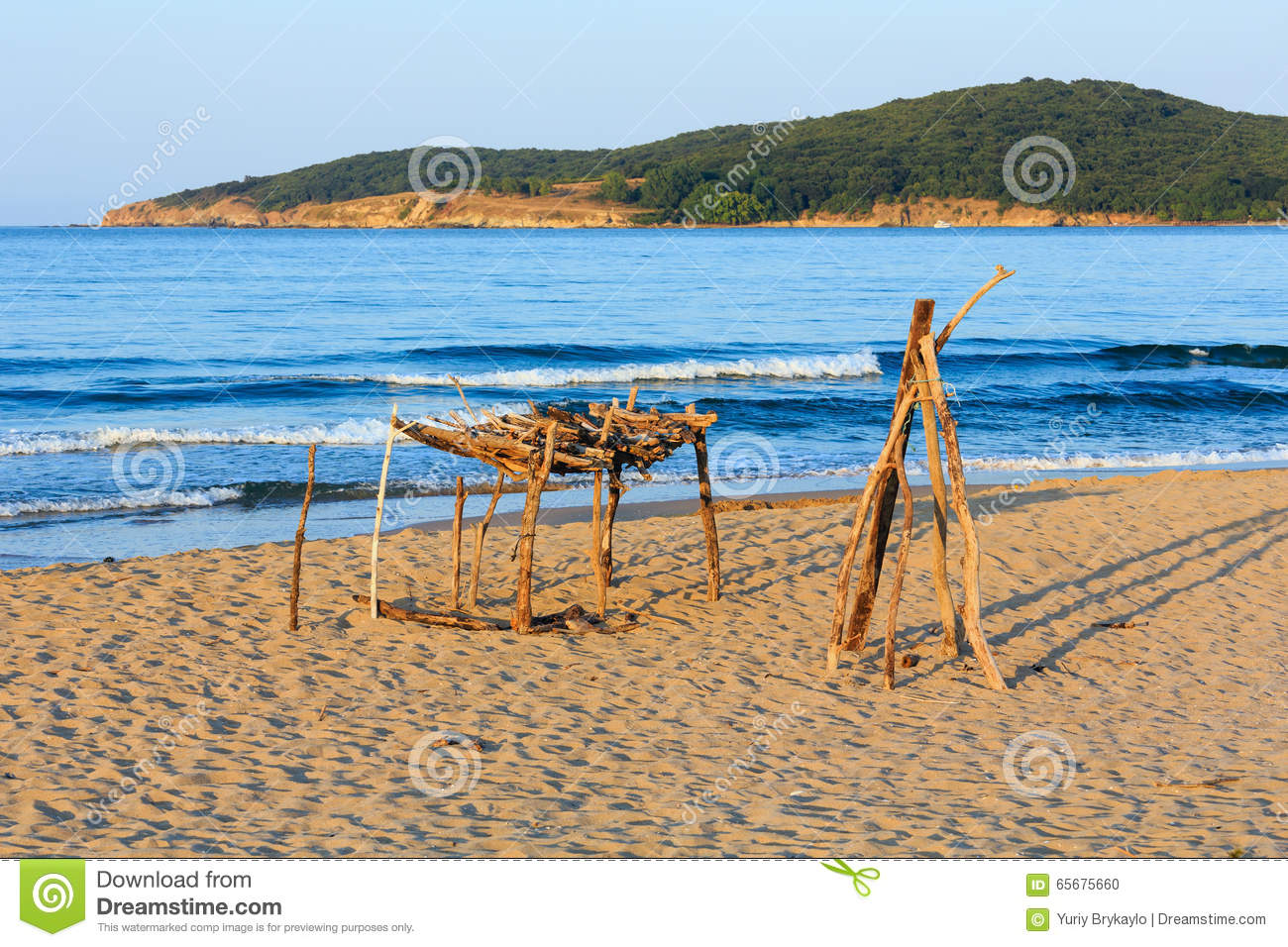 Summer Sandy Beach In Bulgaria Stock Photo Image 65675660