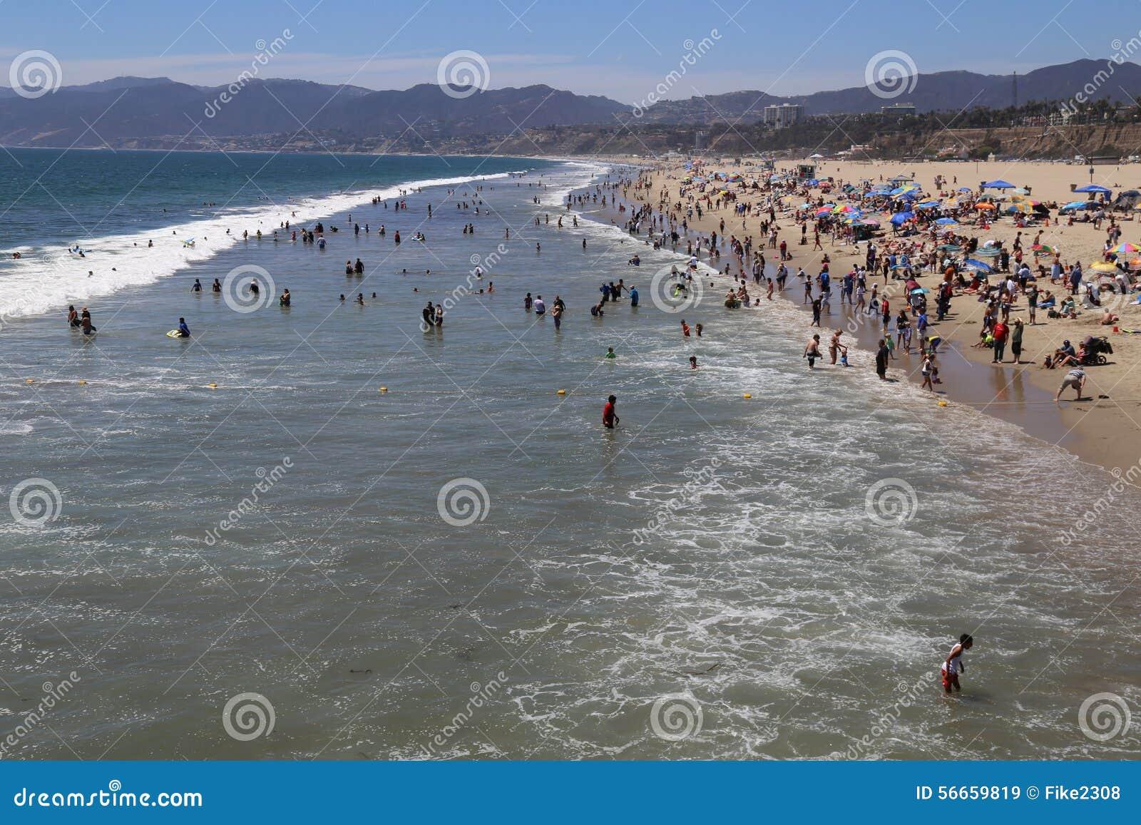 Summer In Santa Monica Editorial Stock Image - Image: 56659819