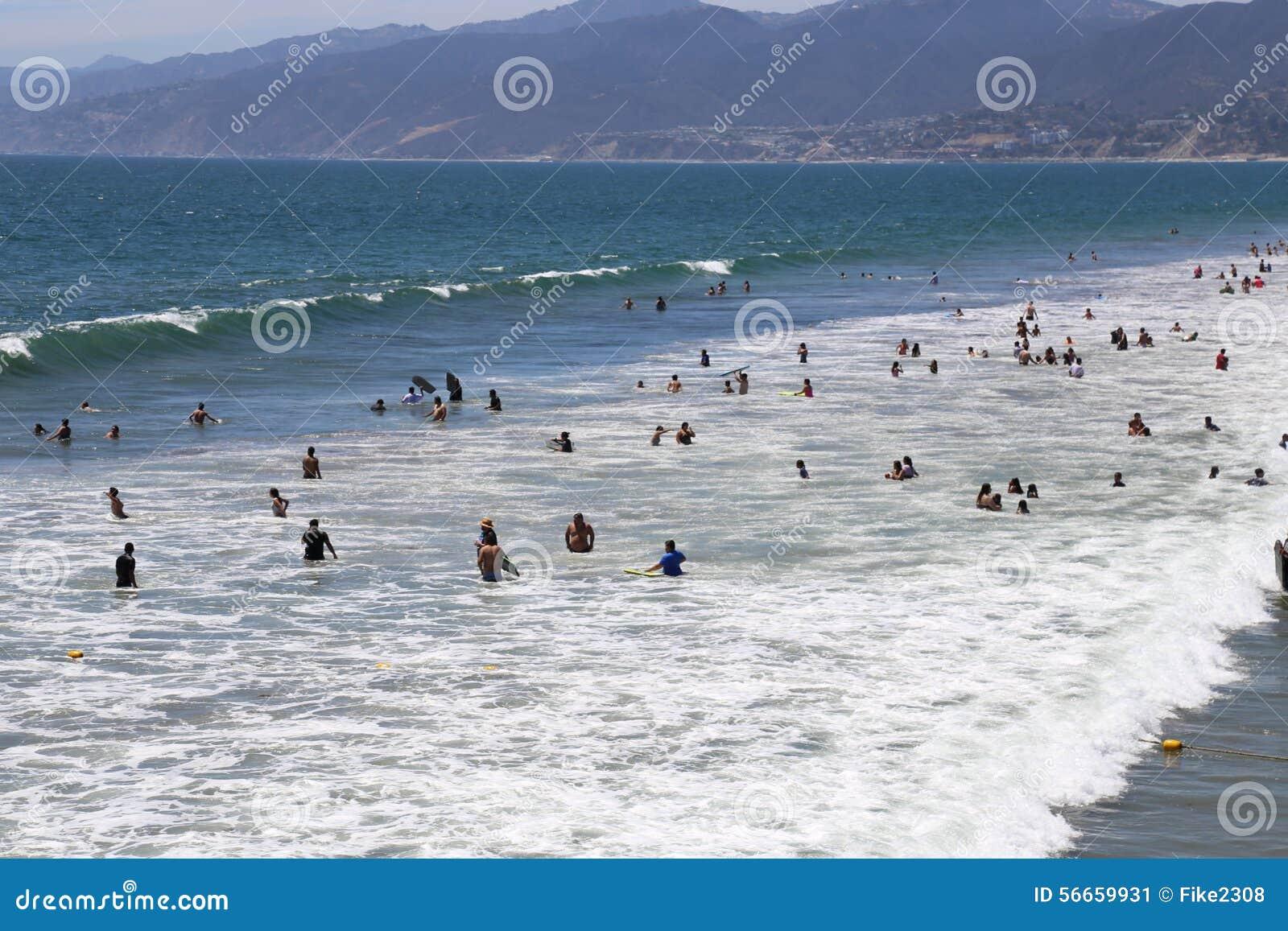 Summer In Santa Monica Editorial Photo - Image: 56659931