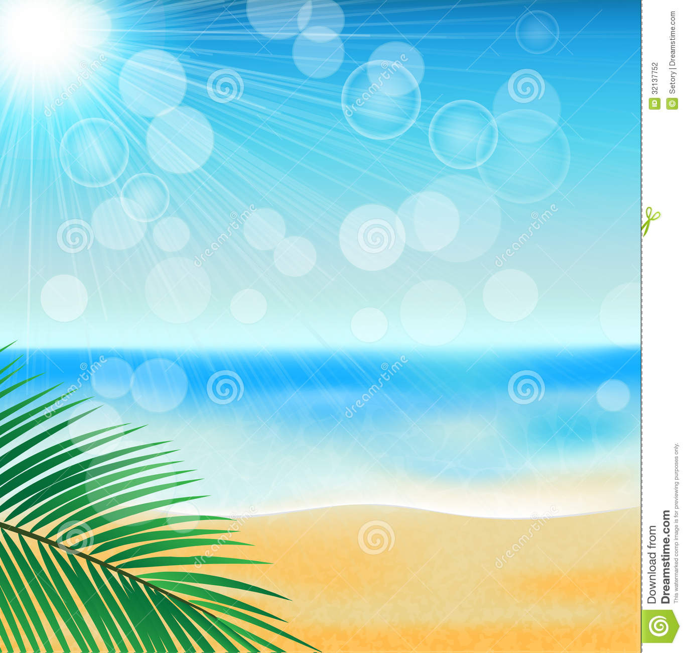 Summer Sea Beach Stock Photography - Image: 32137752