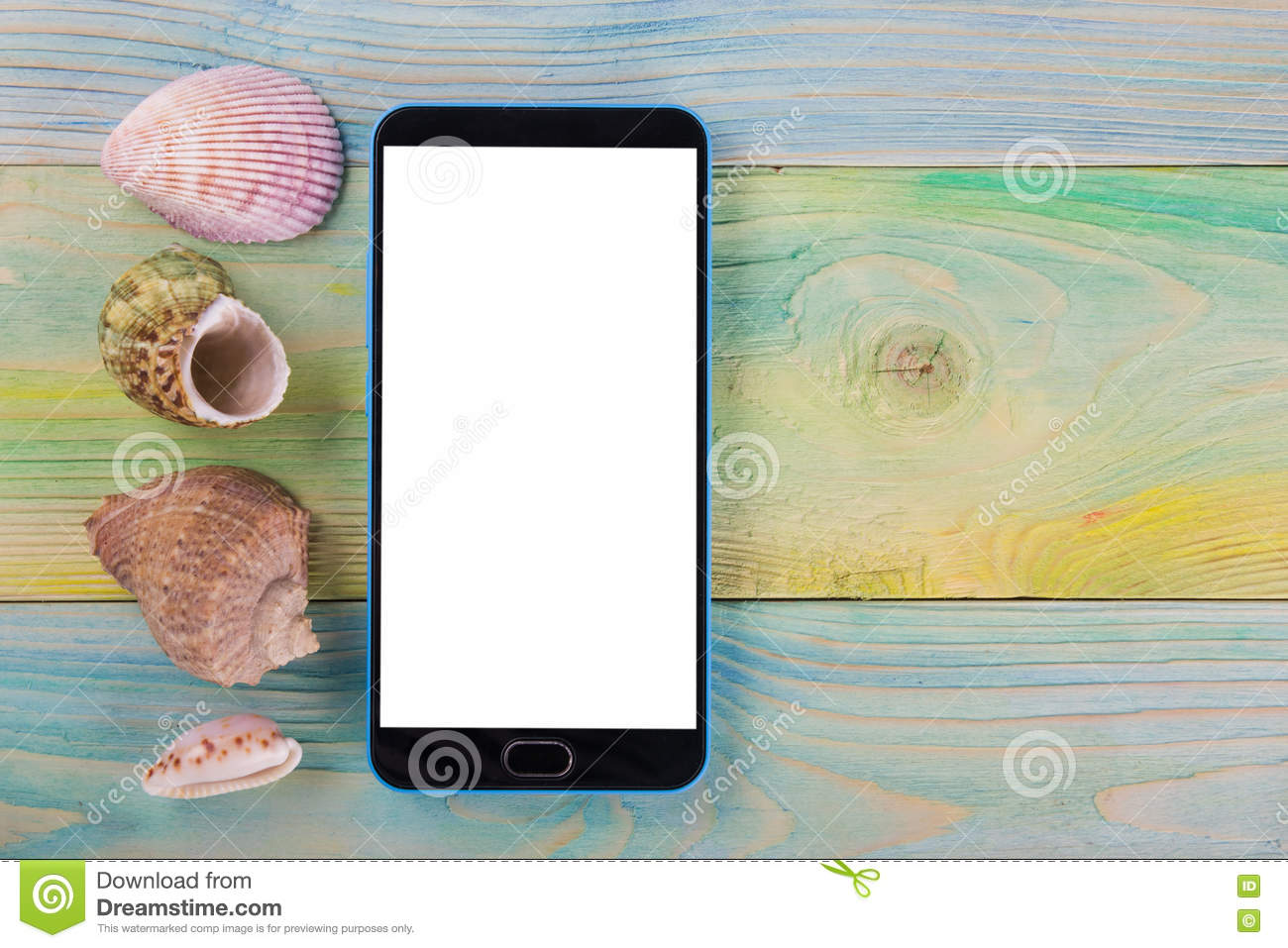 Summer Sea Vacation Mockup Background  Blank Screen Mobile