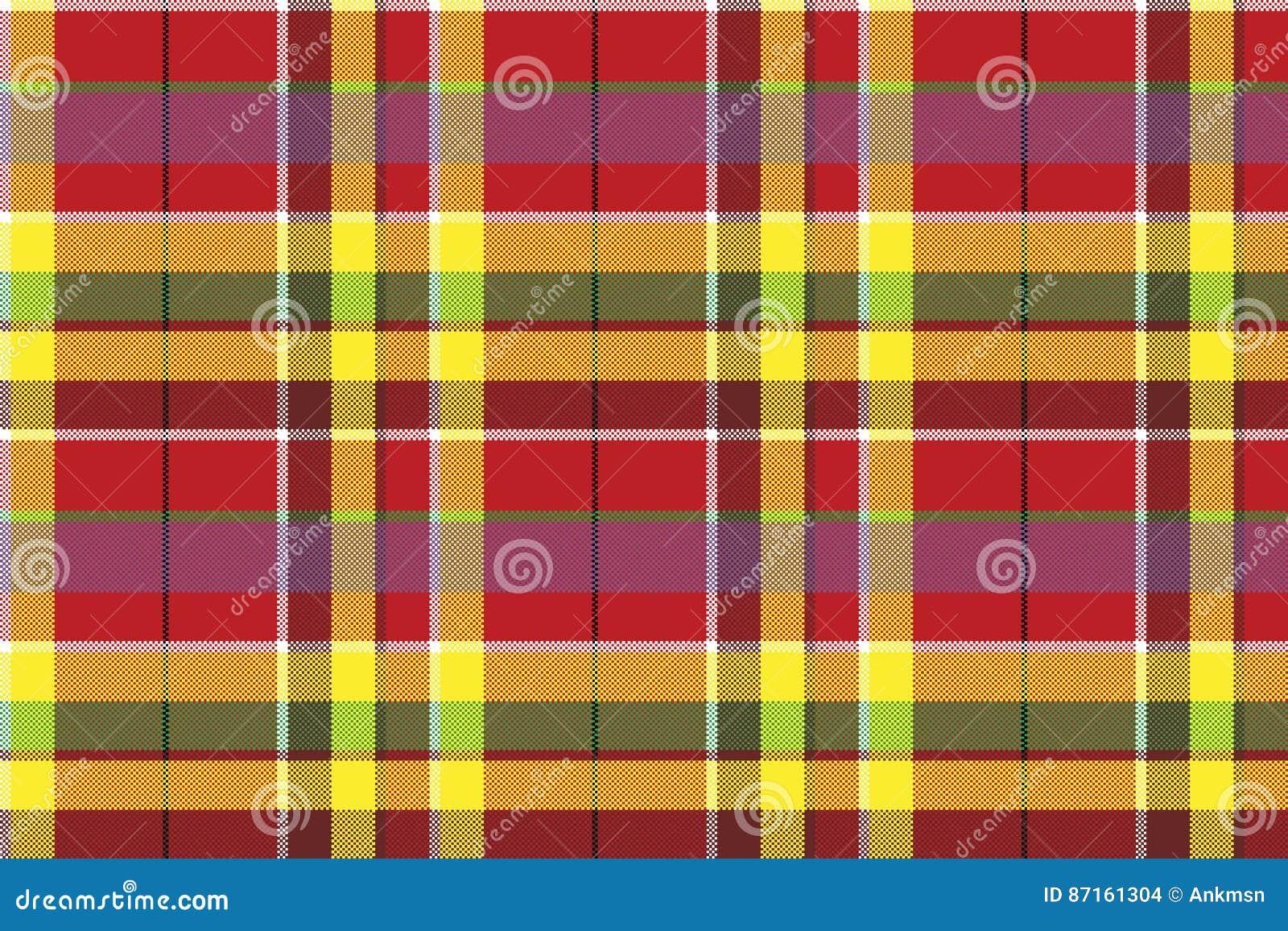 Check Tartan Plaid Fabric Seamless Pattern Texture ...