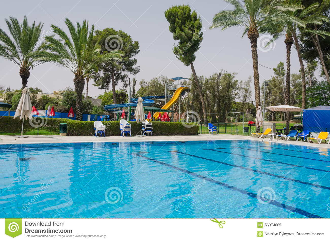 Summer Season In The Swimming Pool Editorial Image Image