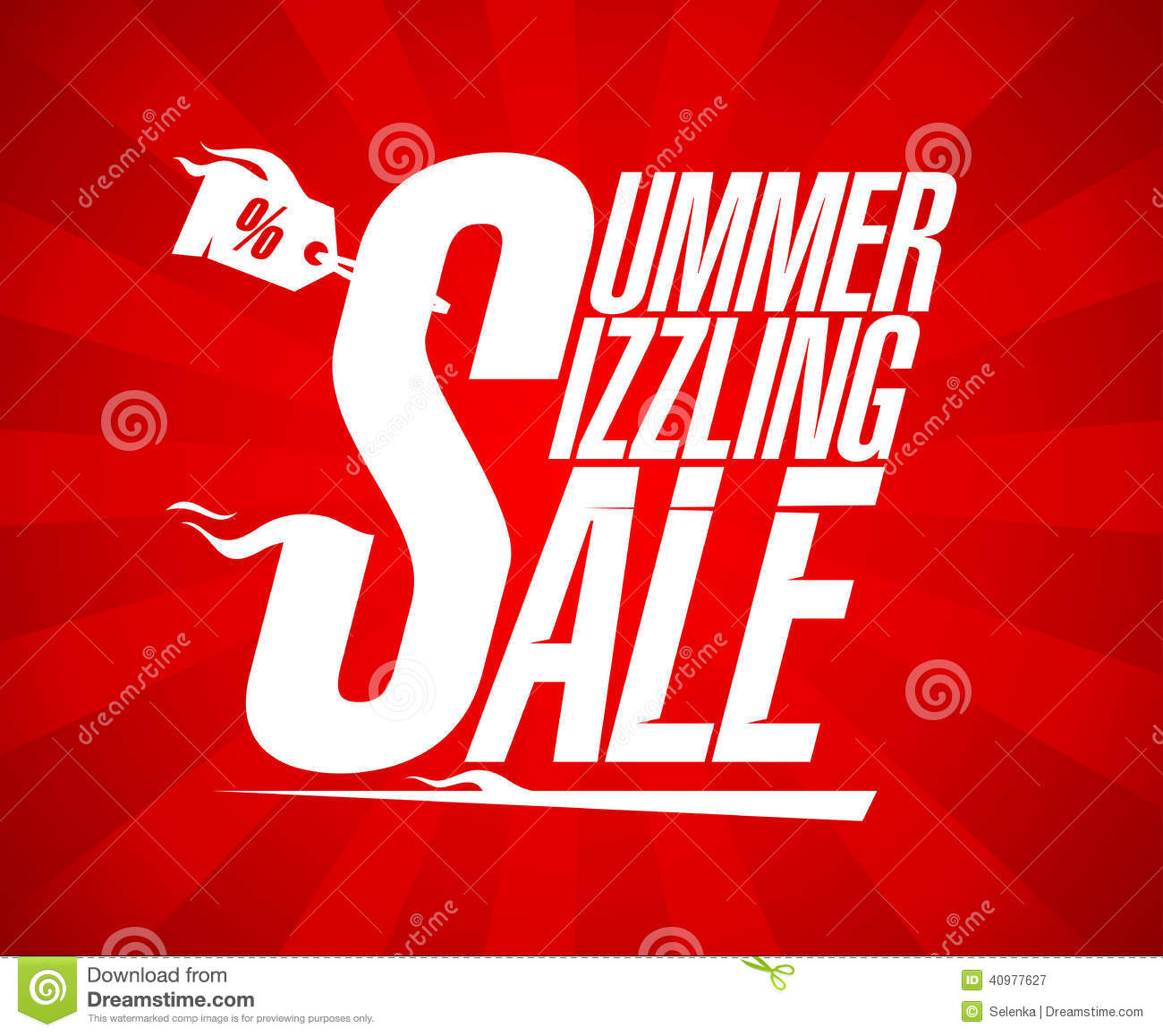 Summer Sizzling Sale Vector Design Stock Vector ...