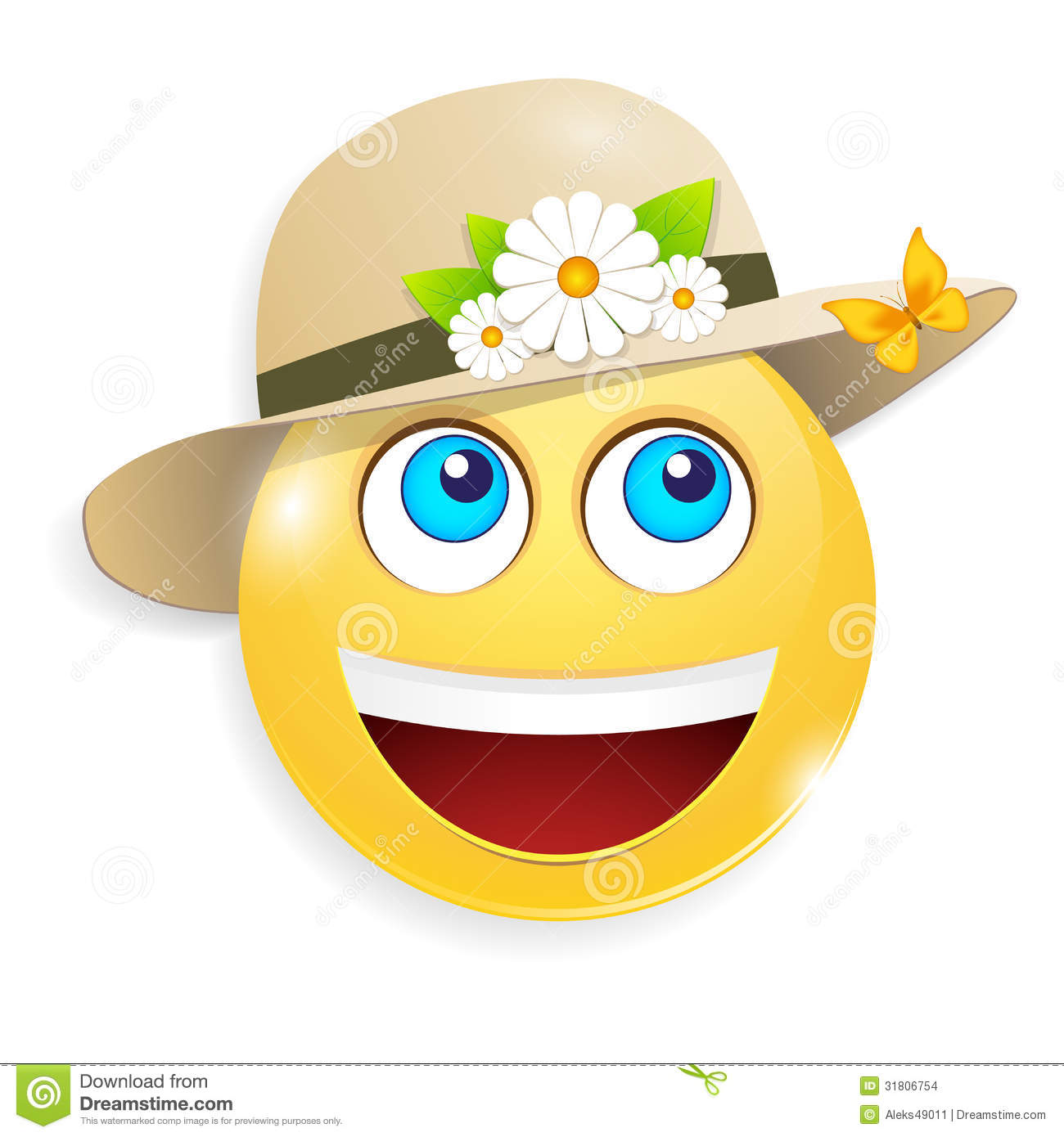 Summer Smiley Stock Images Image 31806754