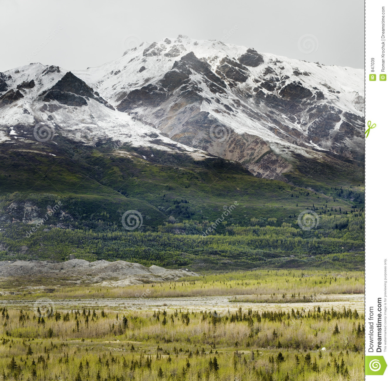 Summer snow in mountains