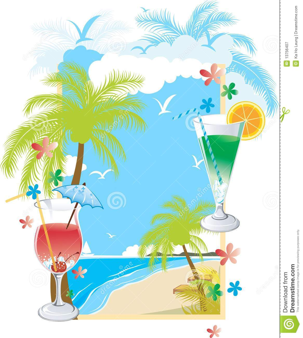 Summer Soft Drink Menu Royalty Free Stock Photography - Image ...