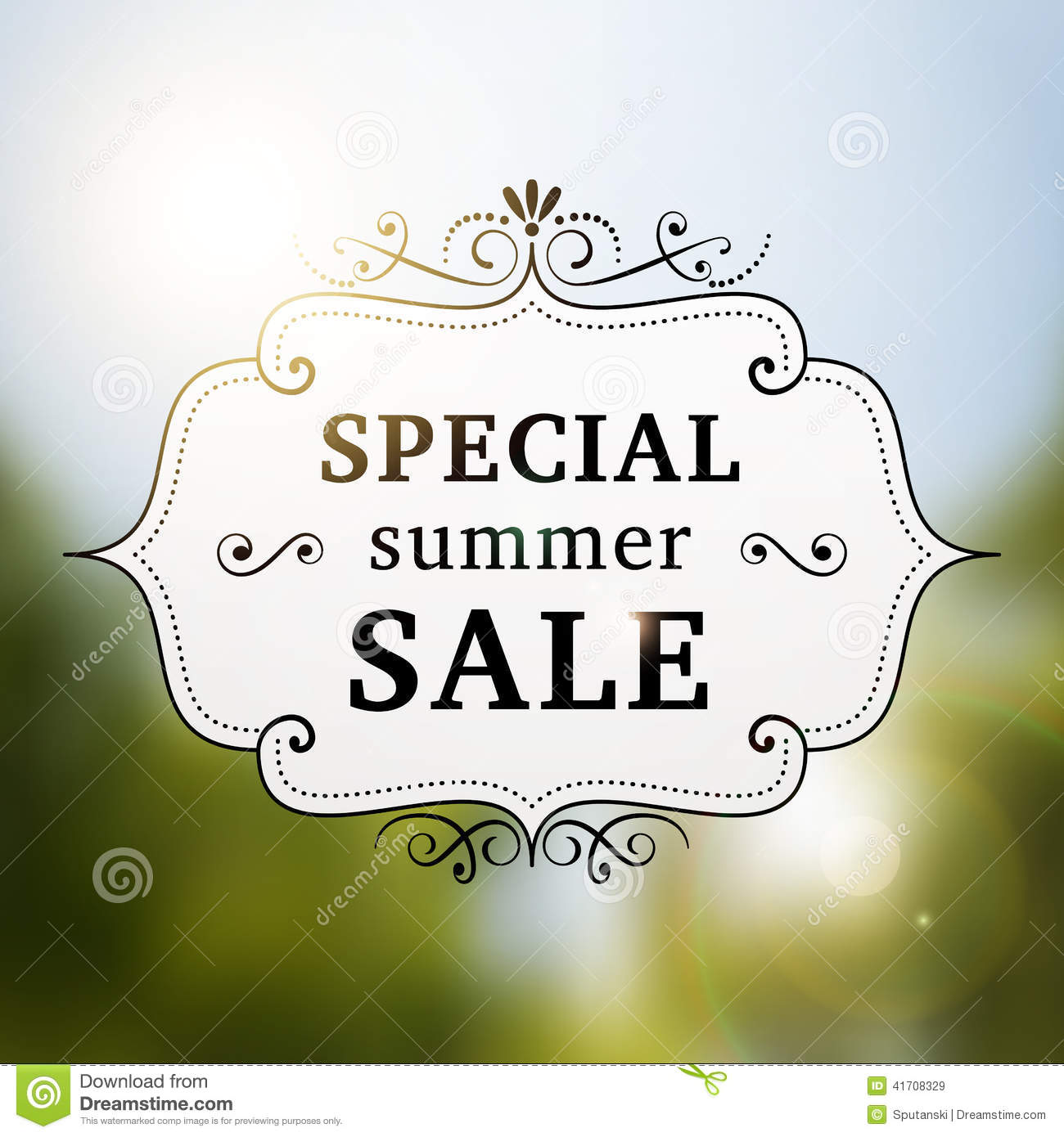 summer special sale retro poster stock vector image