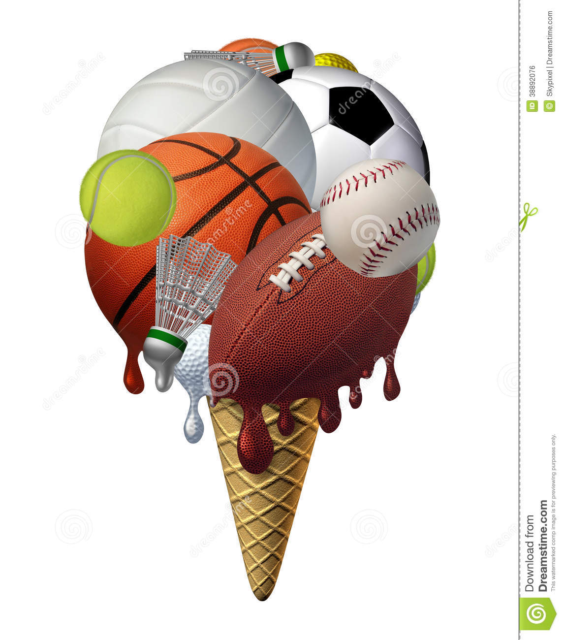 Summer Sports Stock Illustration - Image: 38892076
