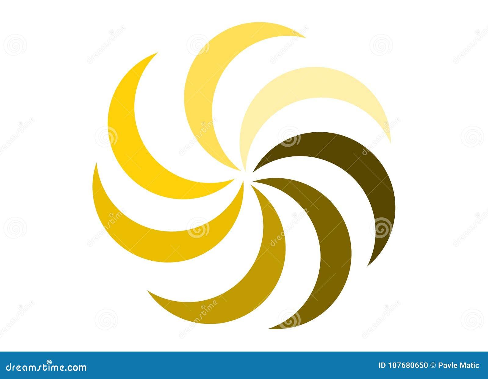 Summer Sun Flower Logo Stock Illustration Illustration Of Shape