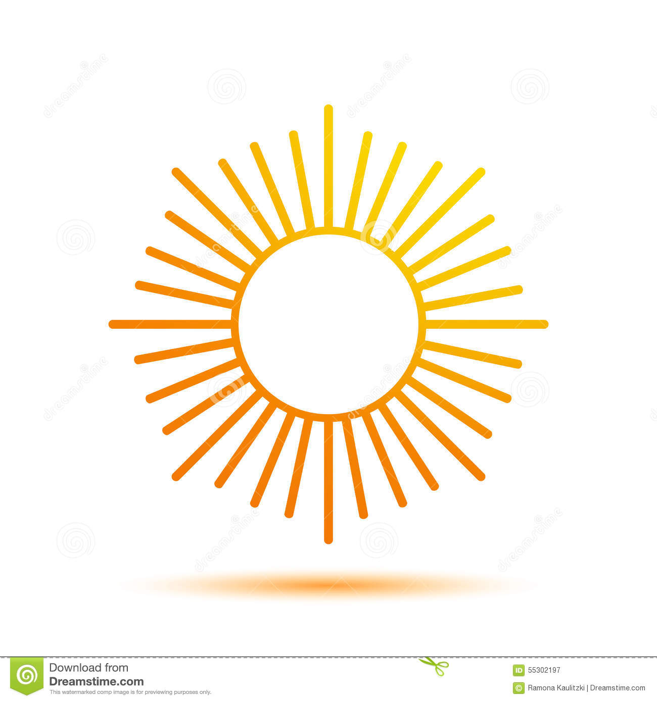 summer sun logo design template stock illustration image