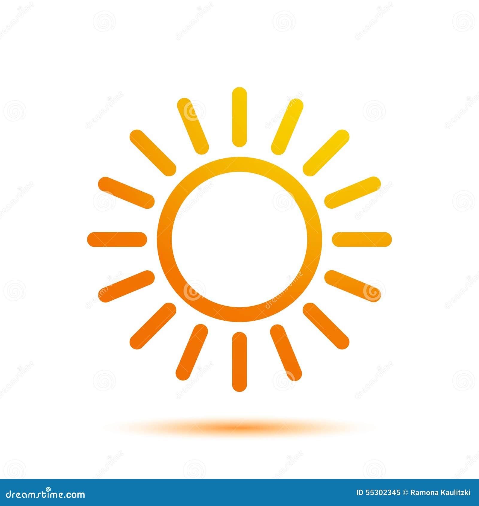 summer sun logo design template stock illustration image