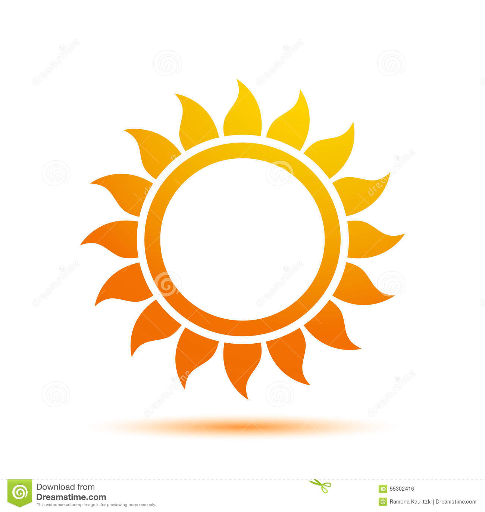 Summer Sun Logo Design Template Stock Illustration ...