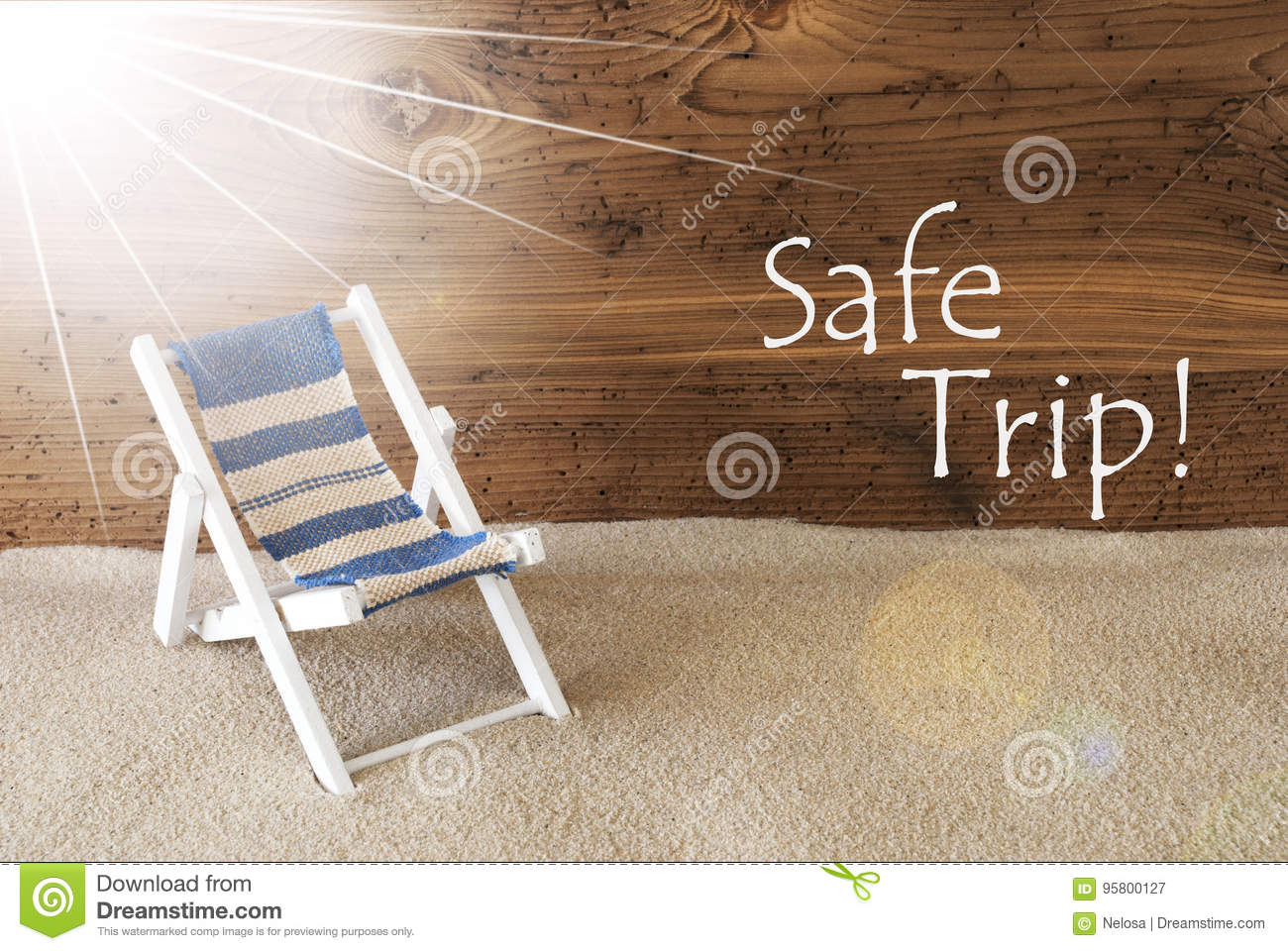 Summer Sunny Greeting Card And Text Safe Trip Stock Image ...